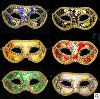 Wholesale Masquerade Costume Party New Year Christmas Halloween Dance Women Sexy Mix Face Mask Venetian Masks Bronzing