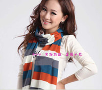 Wholesale manufacturers selling new winter Z RA rainbow stripe cotton scarf scarf of Europe both men and women scarves