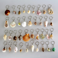 Wholesale Christmas Halloween Gift Couple Keychain Innovative Conch Shells Keychain Alloy Key Ring Key Chain