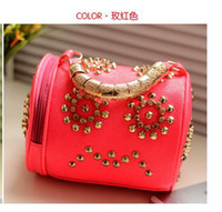 Women other other Ladies Fashion Brand Skull Designer Handbag Women High Quality Leather(faux) Tote Free Shipping Bling Rivets Shoulder Bag