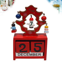 Wholesale Christmas calendar wooden christmas tree Christmas gift child puzzle desktop decoration crafts s
