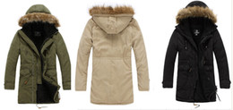 Wholesale free shippijng mens Large size cotton thick warm hooded coat coats