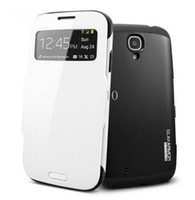 spigen - DHL Freeshipping SPIGEN SGP Slim Armor View Automatic Sleep Wake Flip Cover leather case for Samsung galaxy s4 i9500