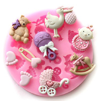 Wholesale Newest x1 cm Mini Baby Doll Theme Food Grade Silicone Mold Chocolate Cake Decorating Heat Safe Mould For Polymer Clay Crafts