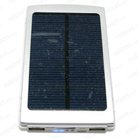 Wholesale Travel mAh Portable Slim Solar Panel Charger Charging Battery Power Bank for iPhone S iPad Tablet Samsung