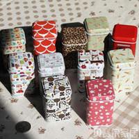 Wholesale New styles Mini Cute Christmas Portable storage box Cylinder tea tin box Multi purpose Storage Case