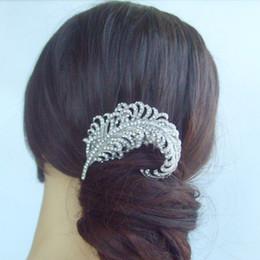 Wedding Bridal Hair Accessories Leaf Hair Comb,Rhinestone Crystals FS05065C1