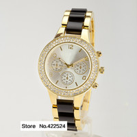 Beige Round 20 2013 Desinger Brand New Women's M Watch diamond Famous fashion Ladies Japan Movement Decoration Clock Hours Freeship