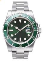 automatic movement free - Top Quality Wristwatch swiss fully automatic mechanical brand watch man s green dial Luxury perferred ultra thin eta movement