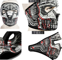 Wholesale On Sale Full Face Ski Masks Terminator Printed Bicycle Cycling Motorcycle Ski Anti Pollution Warm Protector Veil
