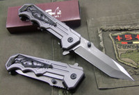 Wholesale Outdoor Survival emi automatic Embossed aluminum handle Folding Lock Knife K57 for hunting or camping