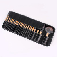24Pcs Make Up Cosmetic Brush Set Kit Makeup Brushes Pink Woo...