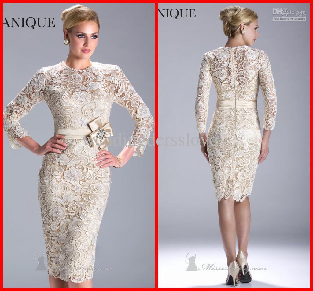 Wedding Gowns Haute Couture Long Sleeve Crew Back Zipper