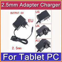 Wholesale DHL v android tablet pc charger for allwinner a13 Q88 Sanei Flytouch cube u18gt ainol legend etc mm port Tablet PC CAA C