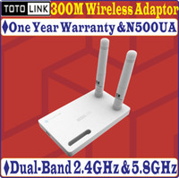 Wholesale TOTOLINK N500UA N500UD Mbps GHz GHz Dual Band Wireless N WIFI USB Adapter with Detachable antennas abgn
