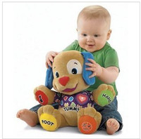 Wholesale New fisher of price musical Dog Laugh and Learn Love to Play Puppy Baby Plush Musical Toys Singing English Songs
