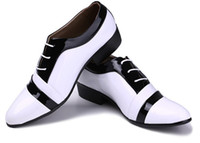 Wholesale 2014 new style Wedding shoes Groom s shoes Cusp Frenum Color patchwork Charm white Man shoes Big size US5_US11 Q373