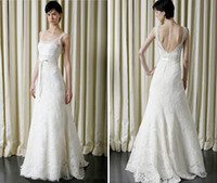 Reference Images beautiful affordable wedding dresses - ALL SIZE Beautiful White Pure Lace A Line Wedding Dresses Spaghetti Backless Ribbons Sash Affordable Bridal Dress