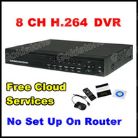 Wholesale H CH Channel Standalone DVR Digital DVR Recorder Free Cloud Services No Set Up On Router Via Connect Internet CCTV Home Security