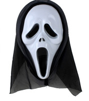 horror - Hot Selling Halloween mask cosplay mask costume ball party supplies dvil scream ghost mask
