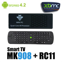 Quad Core Included 1080P (Full-HD) MK908 MINI PC TV BOX RK3188 Quad Core Android 4.2.2 Smart TV IPTV BOX Stick Cortex-A9 2GB RAM DDR3 8GB BT DLNA XBMC RC11 Air Mouse Keyboard