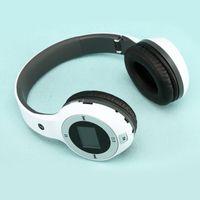 Wholesale New Wireless Folding Stereo Sport Headphone Earphone MP3 Player FM Radio TF Card Slot LED Earphone