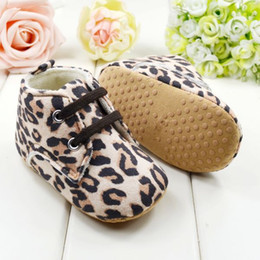 Wholesale soft sole Leopard Print baby shoes fashion toddler boots buy cheap infant shoes pairs