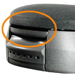 Consola gris en Línea-Negro / gris / marrón Centro de la consola de apoyabrazos tapa tapa clip de captura para VW MK4 Golf Bora Beetle Passat Polo