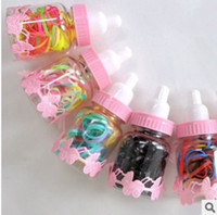 Hairbands Plastic Solid 05025 factory wholesale hair accessories Korean candy colored s hair band children colorful rubber band feeding bottle