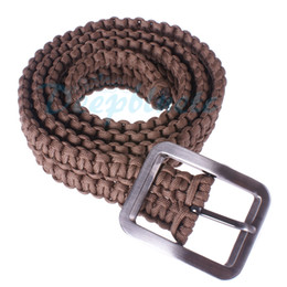 Wholesale Paracord Parachute Cord Belt Hand made with Solid Steel Belt Buckle