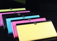 Wholesale Hot Sale New Fashion Lady Womens Clutch Wallet Credit Cards PU Leather Handbag Purse
