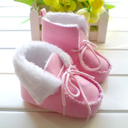 Wholesale 0 year old winter slip resistant soft outsole baby shoes cotton padded baby shoes toddler shoes