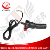 Wholesale New V V Throttle amp Handlebar Grip with Battery Power Display amp Double speed Switch for Electric Scooter amp E Bike Scooter Parts