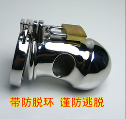 Wholesale Sharp thorn teeth ring Stainless Steel cockcage chastity device penis cock cage with Snap Ring clamp amp Padlock Sex Games for male men