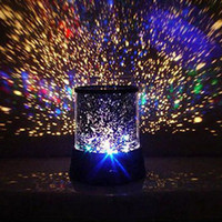 Wholesale New Dreamlike Colorful LED Sky Star Master Lights Constellation Projector Lamp Sound Asleep Night Bulb Christmas Decoration