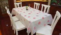 Wholesale PVC Table Cloth table mat flower pattern waterproof oil proof tea table accessorie home decor dinner tablecloth cm