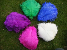 Wholesale-FREE SHIPPING 100pcs 12-14inch white black ivory Gold purple hot pink royal blue turquoise red Lime green Ostrich Feather plumes