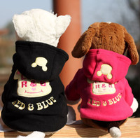 Wholesale cute dog clothes christmas and Halloween dog s coat Dog apparel cartoon letters printed with a hood sweatshirt pet clothes teddy fashion