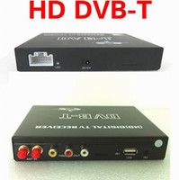 Wholesale Car TV Tuner HD DVB T Digital Receiver Support USB High Speed Moving MPEG Dual antennas