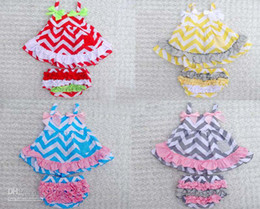 Wholesale 3pc baby girls swing suit skirt blouser blossom pants colors chevron baby dress skirt baby clothing suit
