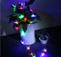 Wholesale Originality LED Dragonfly butterfly Solar String Lights multicolor Lamp Outdoor waterproof Garden Decoration