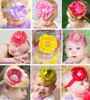 Plastic auger accessories - 2013 new style Baby hair band Set auger big flower series Children Hair Accessories Girls headwear TS24