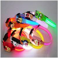 Wholesale LED luminours colourful pet collars
