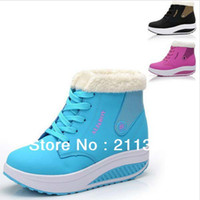 Wholesale PU With Cotton Padded Lady Winter Fitness Shoes Europe Size Comfort Women Healthy Sports Shoes A