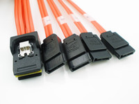 Wholesale 0 M Red Mini SAS i P SFF to SATA P HDD Cable