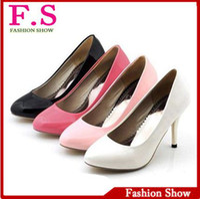 Women Spool Heel PU Free Shipping Big Size 34- 47 Cheap Sexy High Heels Pointed Toe Pumps 2013 Fashion Dress High Quality Women Shoes HH440