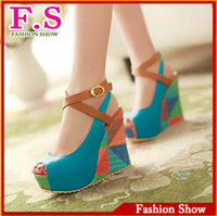 Women beige wedge sandals for women - Discount Fashion Wedge Shoes Platform Open toe Sandals Shoes for Women Sexy High Heels Roman Stylish Sumemr Dress Sandals SA494