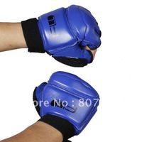 Men best football gloves - Best Price Taekwondo Gloves Hand Protectors Taekwondo Sparring Gloves Blue