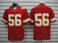 Wholesale Elite jerseys New Football jerseys KCC Red color mix order1 minging1225
