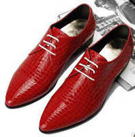 Wholesale Fashion pointed toe leather male shoes crocodile skin male casual shoes GL205